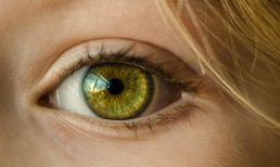 Auge grün